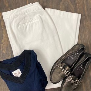 Chico's white stretch crop pants 12